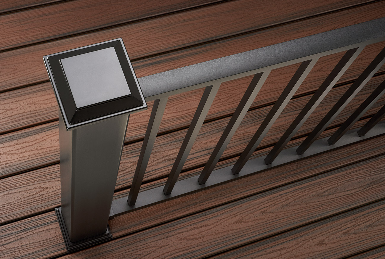 Decking railing options styles trex for Evergrain decking reviews