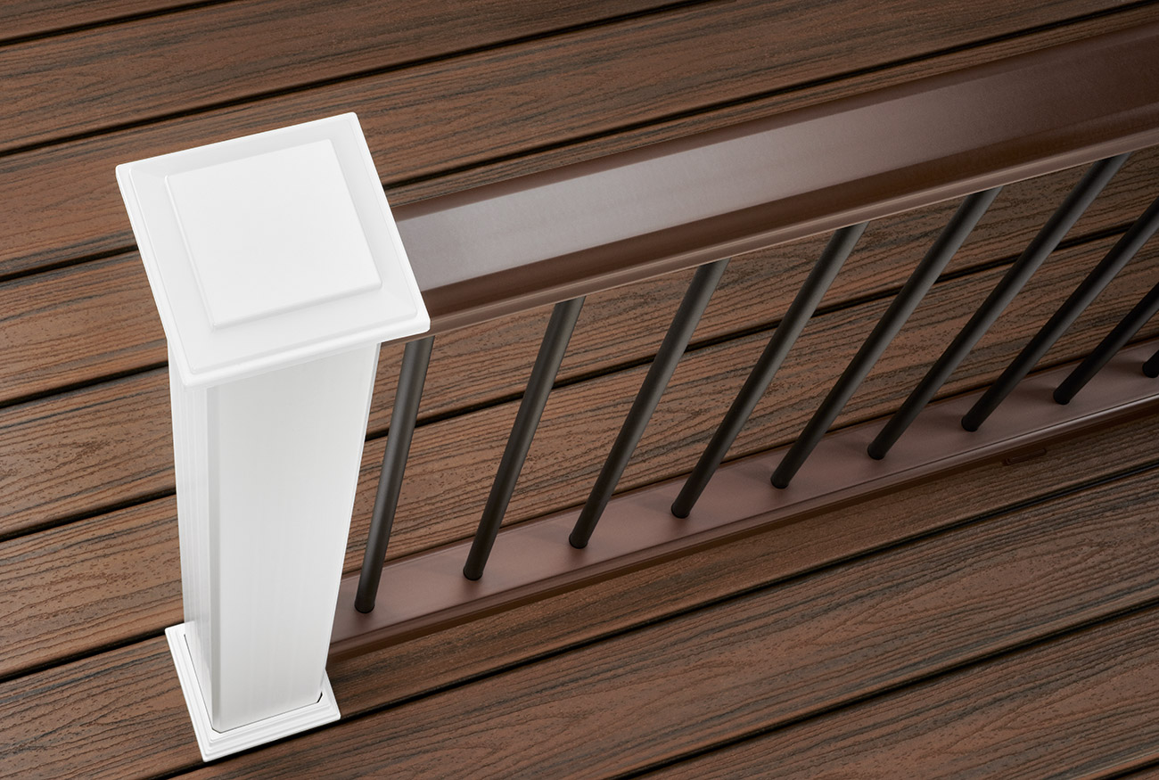 Decking railing options styles trex for Balcony decking boards