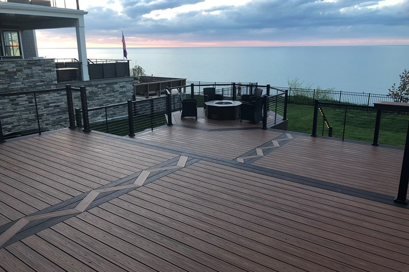 Trex Enhance 174 Decking In Rocky Harbor And Toasted Sand Trex