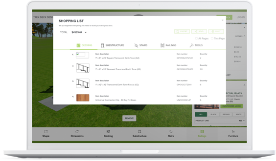 Deck Design Planning Software Trex