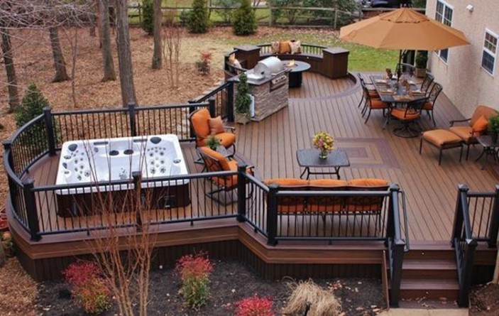 The Trex Blog - HGTV Blog's Color of the Month Spices Up ... on Backyard Trex Deck Ideas id=97470
