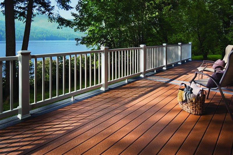 Trex wood-alternative decking and railing.