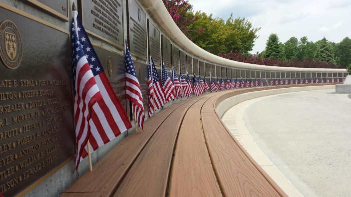 Trex donated Transcend Tiki Torch decking to the D-Day Memorial in Bedford, Va.