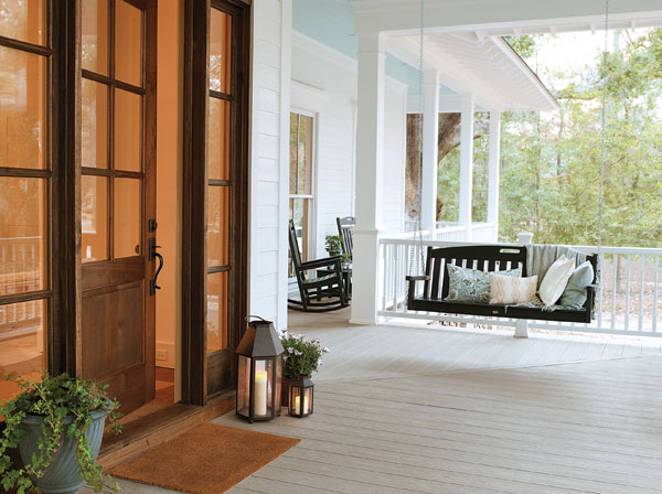 The elegant, traditional porch is one example of design inspiration found on trex.com