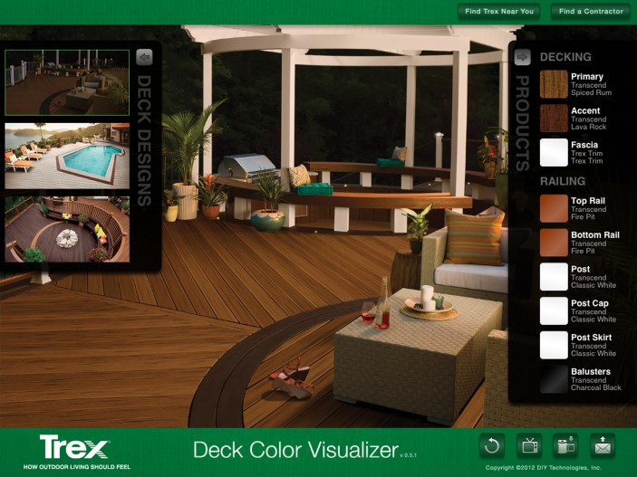 The Trex iPad Visualizer helps you envision the deck of your dreams.