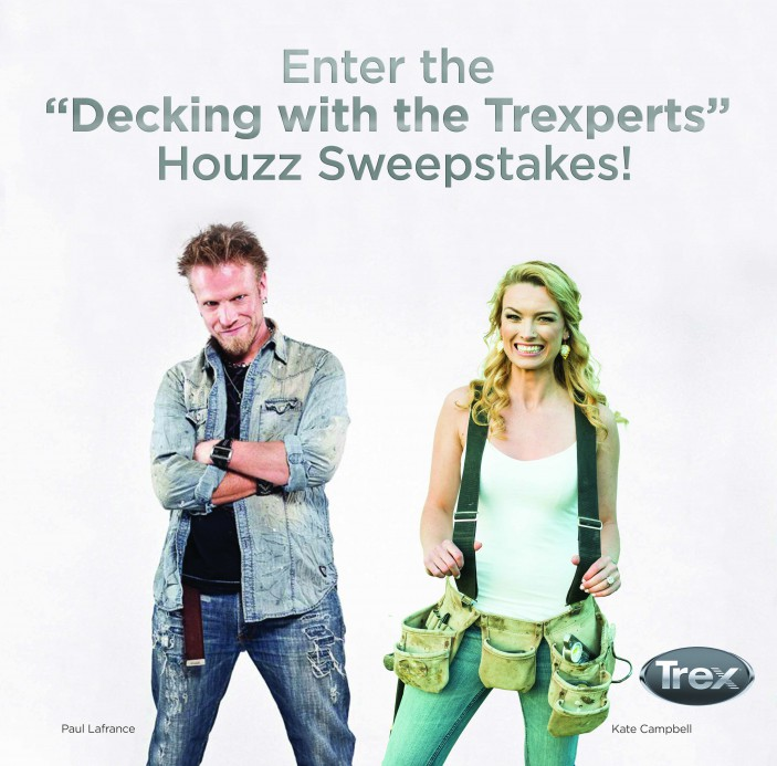 HGTV personalities Paul Lafrance and Kate Campbell share their favorite deck builds in the Trex Houzz Sweepstakes.