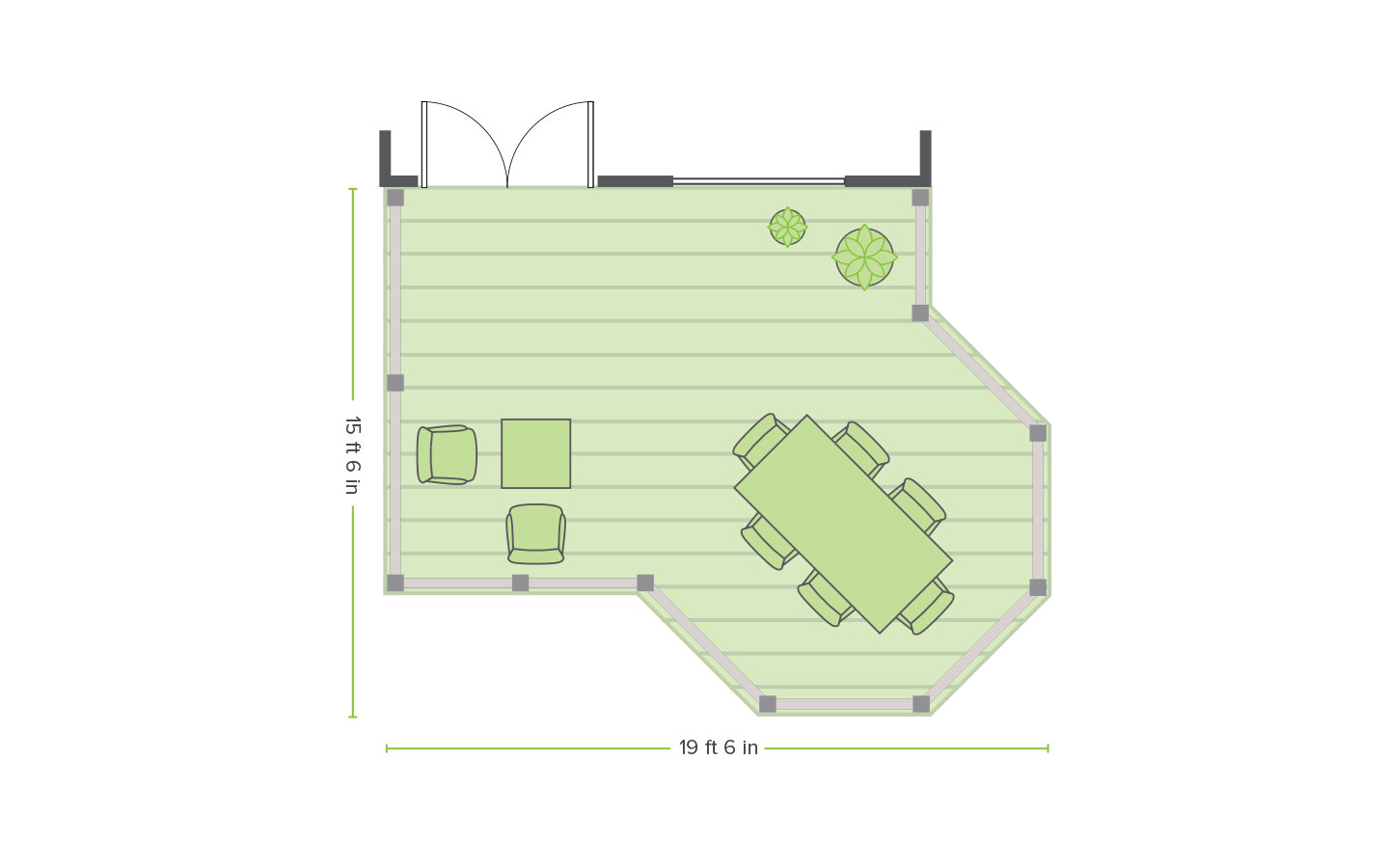 Trex created floor plans for an overlook deck.