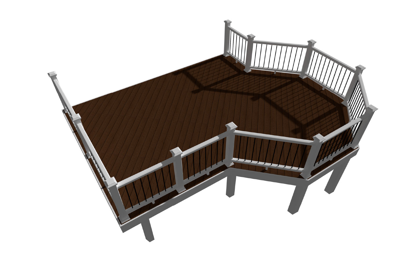 Overlook deck design plans trex for Patio plans and designs
