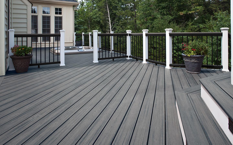 Beveled Edge Deck Design Amp Plans Trex