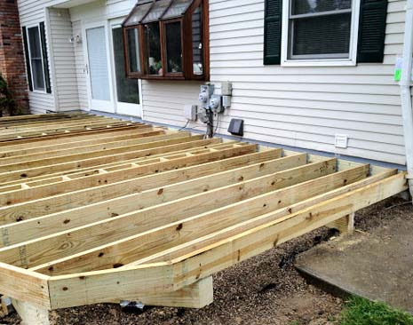 new wood substructure