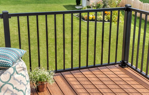 Railing needs to be considered early in your DIY deck build.